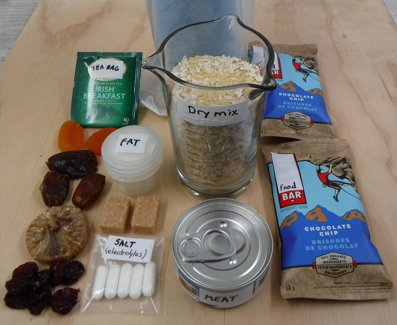 Contents of one ration meal.