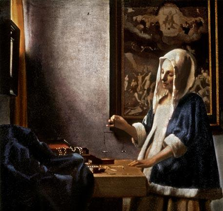Jan Vermeer van Delft. Woman with a balance.
