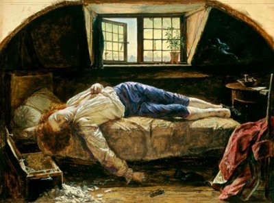 Henry Wallis. The Death of Chatterton.