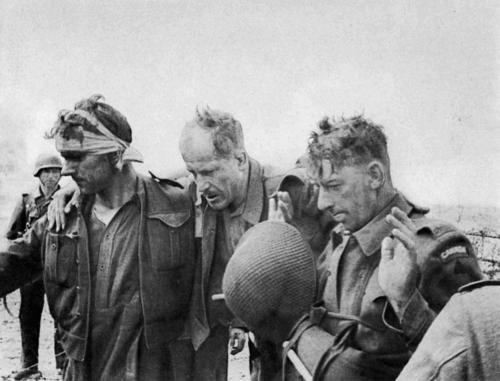 Canadian soldiers captured during the Dieppe suicide mission in 1942.