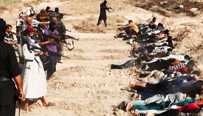 People slaughtered because they disagreed with the Islamic State.
