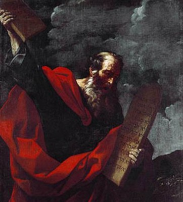 Guido Reni. Moses and the Tables of the Law.