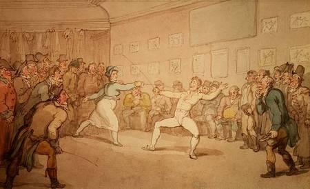 Thomas Rowlandson. The Fencing Duel.