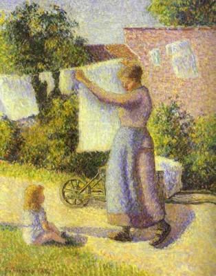 Camille Pissarro. Woman Hanging Laundry.