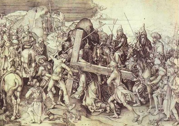 Martin Schongauer. The Carrying of the Cross.