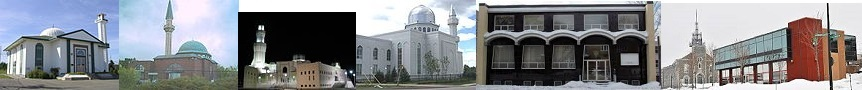 A few mosques in Canada.