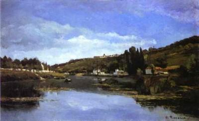 Camille Pissarro. Chennevières along the Marne.