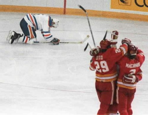 Steve Smith of the Edmonton Oilers, after having scored in his own net, 1986-April-30