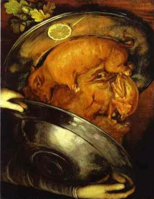 Giuseppe Arcimboldo. The Cook.